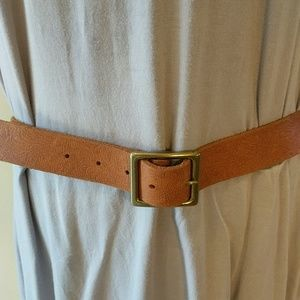 Martin + Osa Belt Brown Leather Stamped